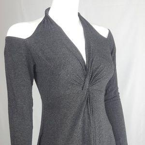 Bailey 44 Tunic Top Dress Gray Halter Off Shoulder